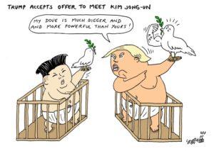 Current Political Cartoons Trump And Kim Jong Un The Big Btw